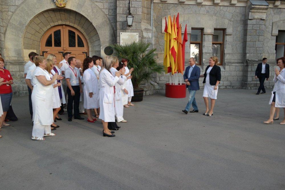 Путин и Берлускони посетили «Массандру»