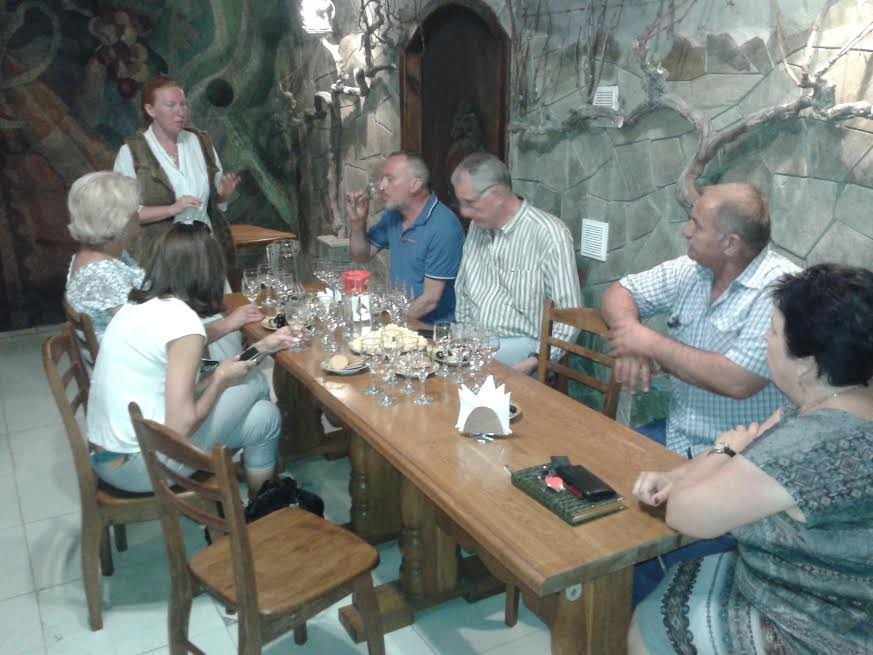 Итальянские виноделы посетили Алуштинский филиал «Массандры»